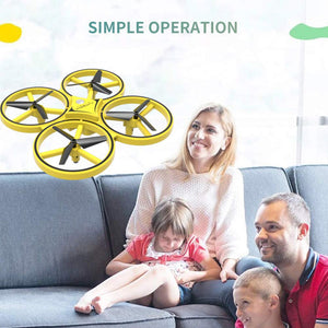 ZF04 RC Drone Mini Infrared Induction Hand Control Drone Altitude Hold 2 Controllers Quadcopter for Kids Toy Gift