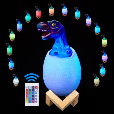 products Creative 3D Dinosaur 16 Color Remote Control Color Change USB Night Light support dropshipping best selling 2020 on AliExpress