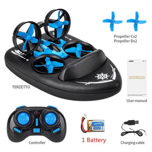 3 In 1 RC Vehicle Flying Drone Land Driving Boat Mini Drone Model Toys