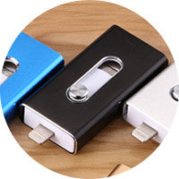 BRU 3in1 Otg Usb Flash Drive 8gb 16gb 32gb 64gb 128gb 256gb  For Iphone Ipad Tablet phone lightning android Pen Drive Usb Stick