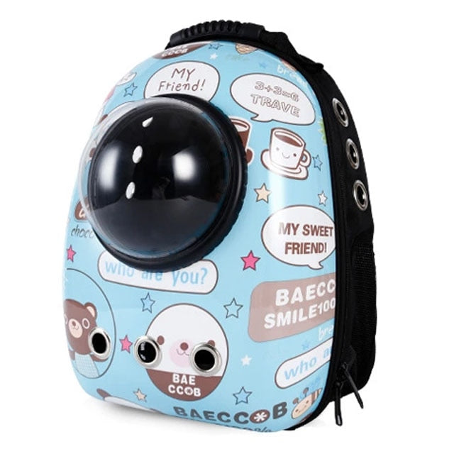 High quality window transport breathable travel bag bubble astronaut pet dog space carrier backpack