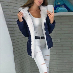 Fashion Women Winter Coat Women Winter Thicken Coats Long Sleeve Warm Jacket Outerwear Zipper Coat Women Long Sleeve Blend coat on AliExpress