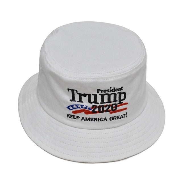 Unisex Outdoor HOT Trump Keep America Great Again Hat Red White Bucket Hat Printing Fisherman Cap gorras|Men's Bucket Hats