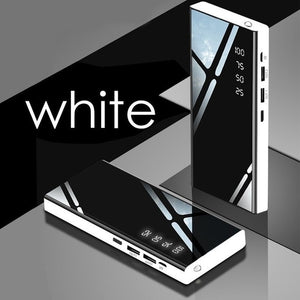 Power Bank 30000mAh Portable Mirror Charger Ultra High Capacity Power Bank 2.1A Output for IPhone IPad & Samsung Galaxy & Xiaomi