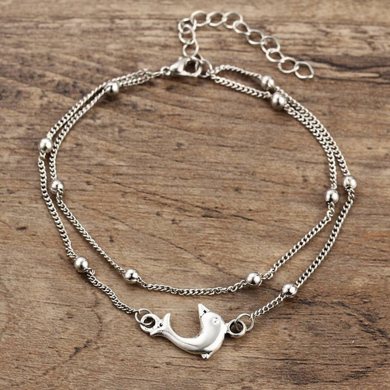 Bohiemian Dolphin Beads Anklets