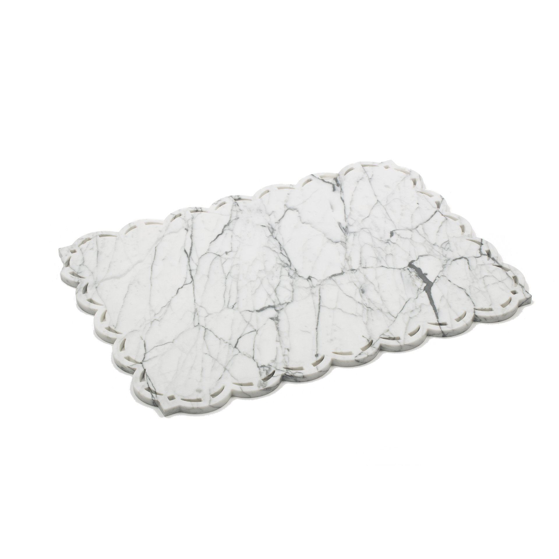Mobj87_Square Marble Placemat - Tray with Lace Edge