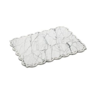 Square Marble Placemat - Tray with Lace Edge