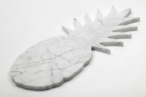 Big Marble Cutting Board and Serving Tray with Pineapple Shape
