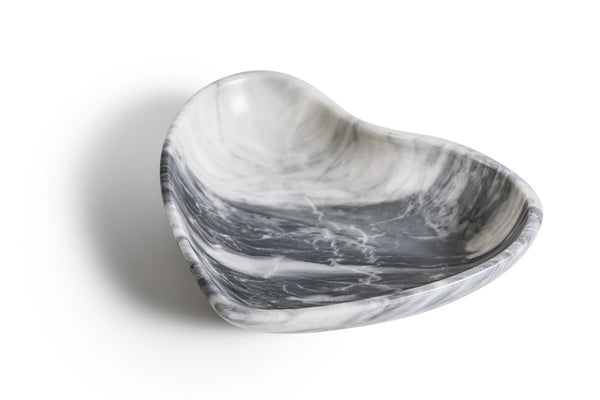 Grey marble bowl with heart shape