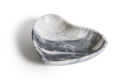 Mobj119_Grey marble bowl with heart shape