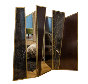 Screen in Black Port Laurent Marble, Cherrywood, Bronzed Mirror