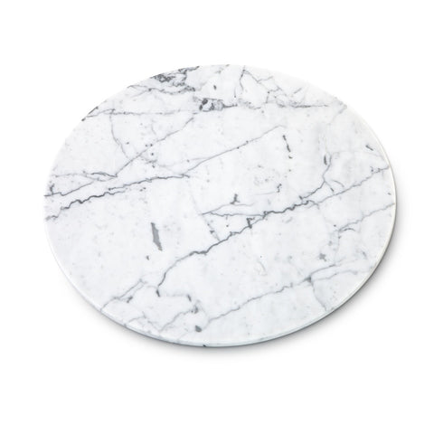 Mobj25_Round White Marble Cheese Plate