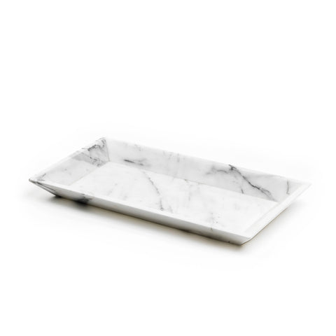 Mobj41_White or Black marble serving tray