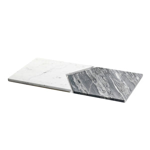 Mobj44_Set of 2 geometric Marble Plates