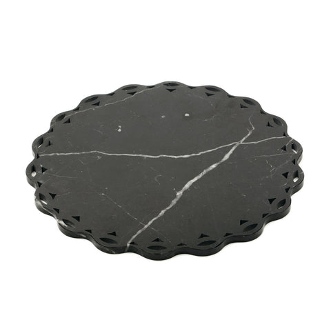 Mobj85_Scalloped edge round marble tray