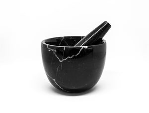 Mobj155_Small Black Marble Mortar and Pestel
