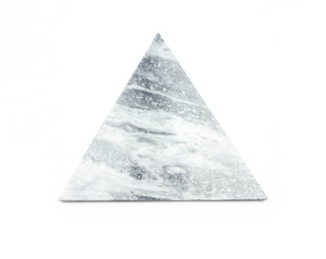 Mobj18_Grey Marble Serving Plate Triangular Shape with cork underneath