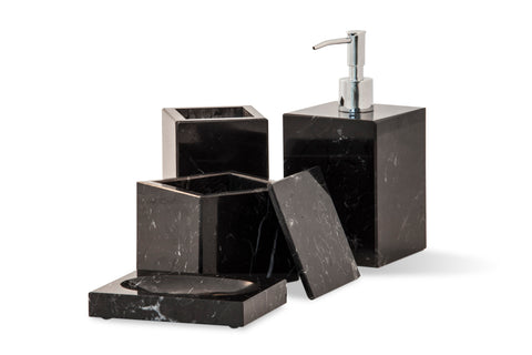 Squared Set for Bathroom in Marble