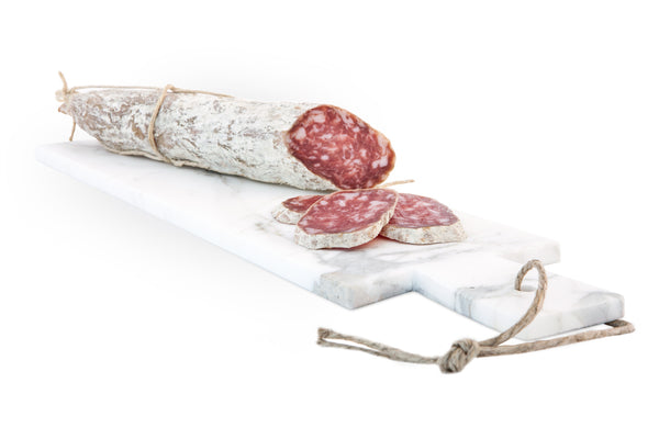 White Marble Chopping Board for salami