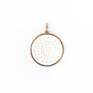 Big pendant for necklace in white Carrara marble