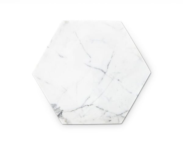 Hexagon Marble Serving Plate