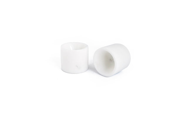 Mobj139_Set of 2 egg cups in white Carrara marble