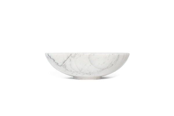 Mobj40_Rounded Bowl in Black Marquina or White Carrara Marble
