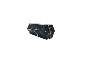 Mobj186_Big decorative prism / bookend in black Marquina marble satin