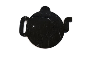 Black Marble Plate Design Shape of a Teapot