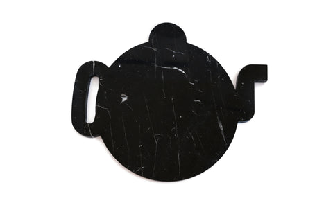 Mobj05_Black Marble Plate Design Shape of a Teapot