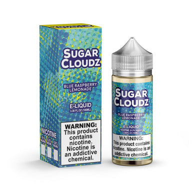Blue Raspberry Lemonade is a fruity drink e juice with flavors of blue raspberry, lemonade & candy. This e liquid is made by Sugar Cloudz in bottle sizes of chubby gorilla 100ml or 200ml. Nicotine strength options are 0%, 3% or 6%.