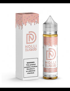 Strawberry Cannoli + Pebbles is a unique fruity dessert e juice with flavors of cannoli, assorted berry cereal, whipped cream & strawberry. This e liquid is made by Nolli E Liquid in 60ml or 120ml chubby gorilla bottles. Nicotine strength options are 0%, 3% or 6%.