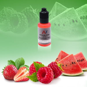 Watastraz is a candy e juice with flavors of watermelon, strawberry & raspberry. This e liquid is made by American Vapor Group/Red Star Vapor in bottle sizes of 60ml or 120ml. Nicotine strength options are 0%, 3%, 6% or 12%.