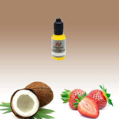 Maiden's Milk is a creamy fruit e juice with flavors of strawberry, custard, bavarian cream & coconut. this e liquid is made by American Vapor Group in bottle sizes of 30ml, 60ml or 120ml. Nicotine strength options are 0%, 3%, 6% or 12%.