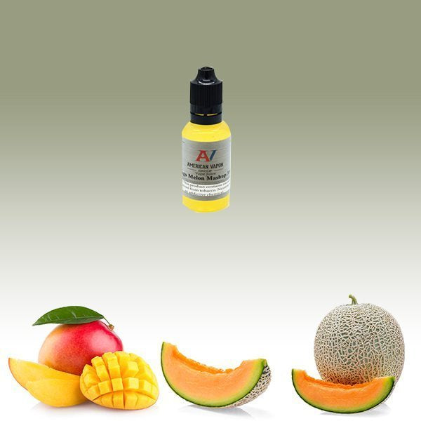 Mango Melon Mashup is a fruity e juice with flavors of mango, strawberry, watermelon & honeydew. This e liquid is made by American Vapor Group/Red Star Vapor in bottle sizes of 30ml, 60ml or 120ml. Nicotine strength options are 0%, 3%, 6% or 12%.