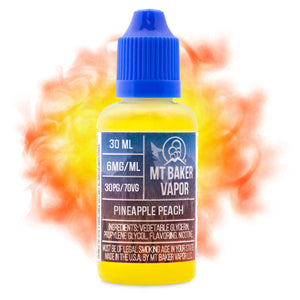 Pineapple Peach is a fruity e-juice with flavors of pineapple & peach. This e-liquid comes in bottle sizes of 30ml & 60ml. Nicotine strength options are 0%, 3% or 6%