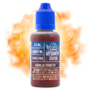 Vanilla Tobacco is a dessert tobacco e-juice with flavors of tobacco & vanilla bean. This e-liquid is made by Mt Baker Vapor in bottle sizes of 30ml & 60ml. Nicotine strength options are 0%, 3%, 6% & 12%