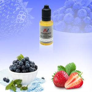 OG Steve Is a fruit e juice with flavors of blueberry & strawberry. This e liquid is made by American Vapor Group / Red Star Vapor in chubby gorilla sizes of 30ml, 60ml, or 120 ml. Nicotine strength options are 0%, 3%, 6% or 12%.