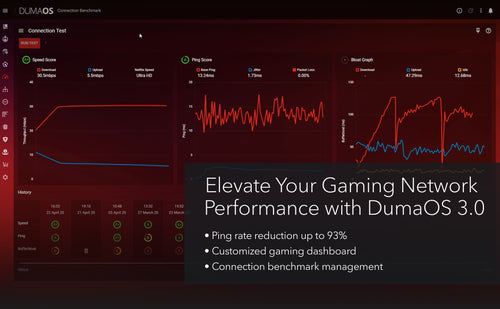 ELEVATE YOUR GAMING NETWORK PERFORMANCE WITH DumaOS 3.0