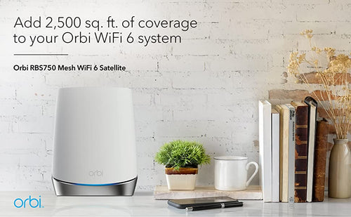 ADD 2,500 sq.ft. OF COVERAGE TO YOUR ORBI WIFI 6 SYSTEM