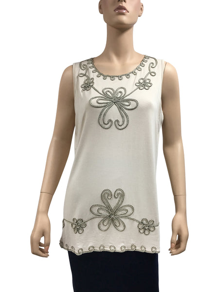 Ladies Tank With Flower - 12pcs/pack ($8.90 each)