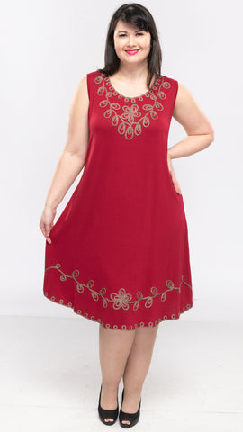 Ladies Dress With Embroidery - 12pcs/pack ($13.50 each)