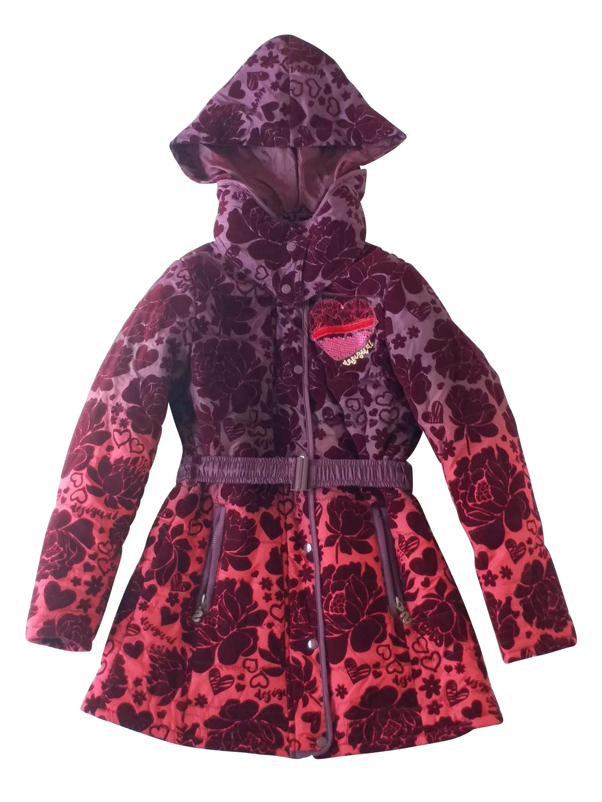Girls Fashion Jacket With Hood - 8pcs/pack ($10.65 each)