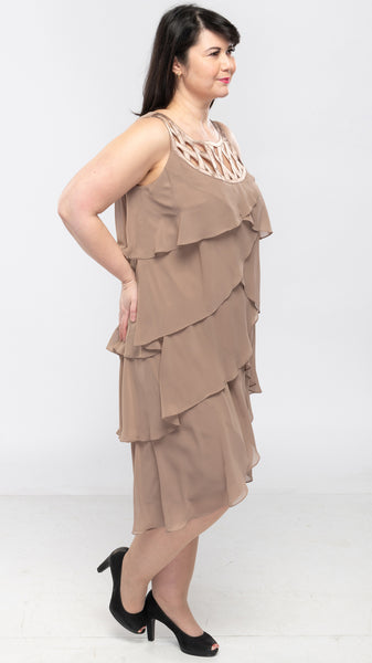 Ladies Tiered Dress (Regular & Plus Sizes) - 40pcs/pack ($11.85 each)