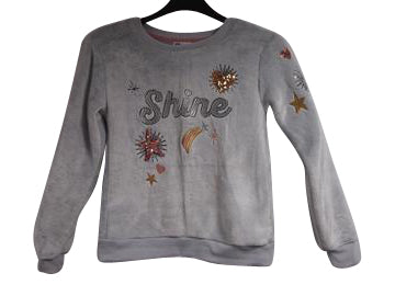 Girls Grey Pullover - 10pcs/pack ($5.25 each)