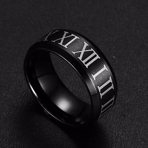 """Roma"" Roman numerals ring-UXORIOUS"