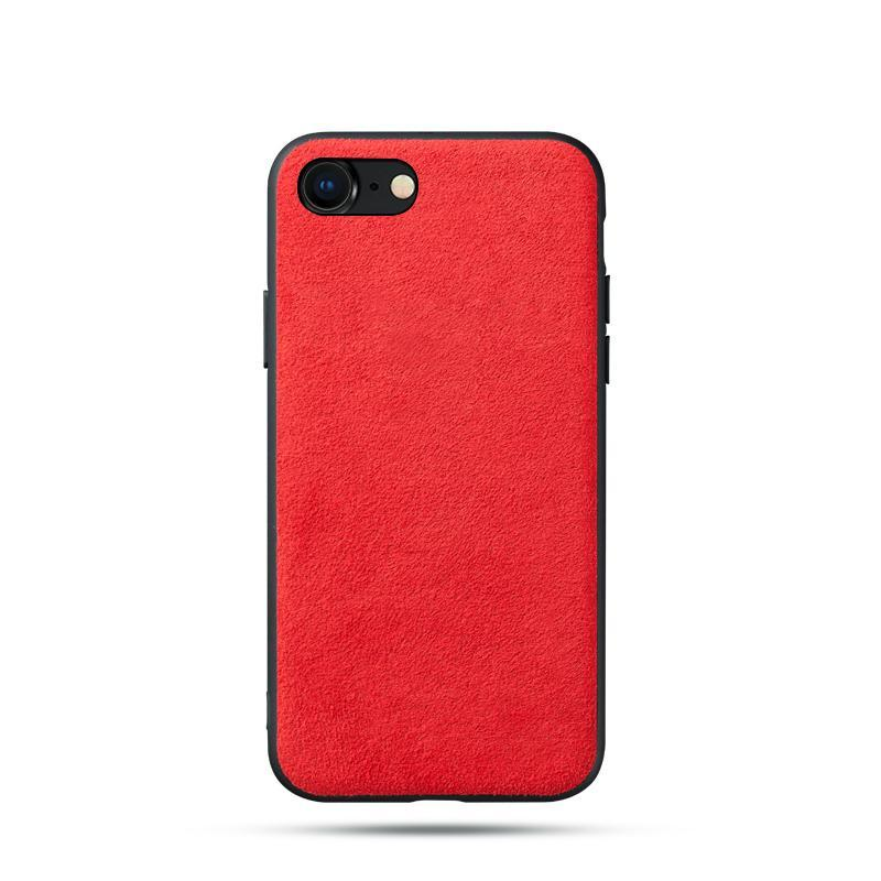 Alcantara iPhone 7/8 Case - Special Red Edition-UXORIOUS