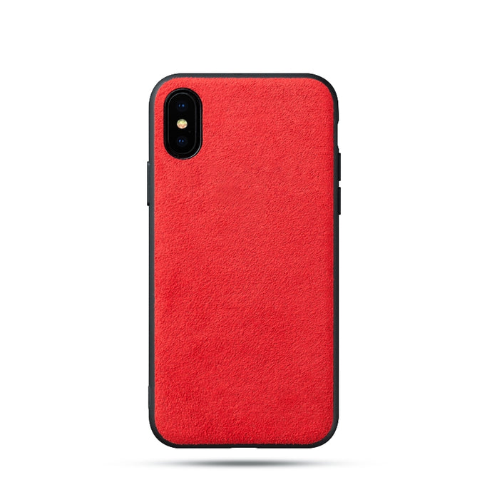 Alcantara iPhone XS Case - Special Red Edition-UXORIOUS