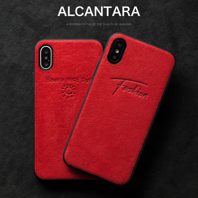 Alcantara iPhone XR Case - Special Red Edition - UXORIOUS
