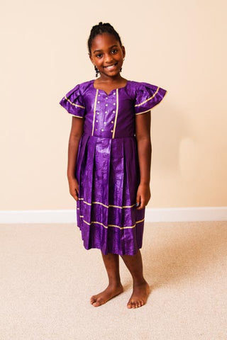 Girls Brocade Dress- Keelah
